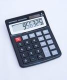 Goedkope zonne aangedreven elektronische calculator. Stock Foto's