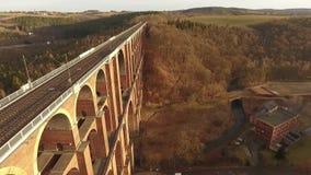 Goeltzsch valley bridge europe germany thuringia travelling. Landscape stock video