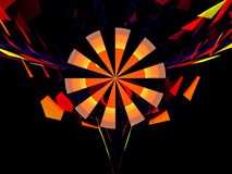 Goemetrical windmill fractal royalty free stock photos