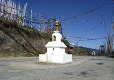 Goempa/Chorten nel Bhutan centrale Fotografia Stock