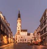 Goerlitz met stadhuis, oostelijk Duitsland, Europa royalty-vrije stock afbeeldingen