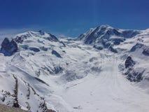 Goerner lodowiec przy Monte Rosa fotografia royalty free