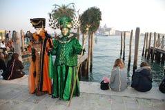 goers Ιταλία δύο καρναβαλιού &Be Στοκ Φωτογραφίες