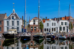 Goes harbour in the Netherlands Stock Image