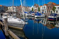 Goes harbour in the Netherlands Stock Photo