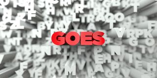 GOES -  Red text on typography background - 3D rendered royalty free stock image Royalty Free Stock Photography