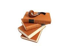 Goethe的书抽烟管道。 免版税库存照片