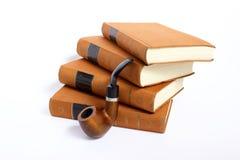 Goethe的书抽烟管道 免版税库存图片