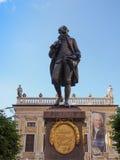 Goethe Denkmal Leipzig Arkivfoto