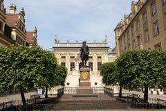 Goethe en Leipzig Imágenes de archivo libres de regalías