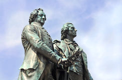 Goethe en Schiller Stock Foto
