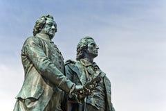 Goethe en Schiller-Monument Royalty-vrije Stock Afbeelding