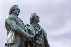 Goethe et mémorial de Schiller à Weimar image libre de droits