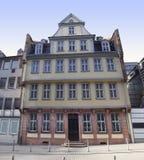 Goethe hus i Frankfurt Arkivfoton