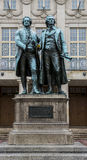Goethe i Schiller obrazy stock