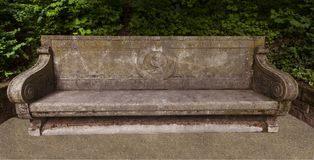 Heidelberg castle garden. Baden Wuerttemberg, Germany. Goethe-Marianne-banquette in the Heidelberg castle garden. _Heidelberg, Baden Wuerttemberg, Germany Royalty Free Stock Images