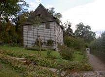 Goethe's garden house on the Ilm. Weimar, Germany, 2014 In the garden house on the Ilm Royalty Free Stock Image