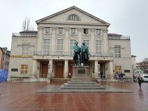 Goethe Schiller. Achitecture. Weimar. Deutschland. Statue Royalty Free Stock Photo