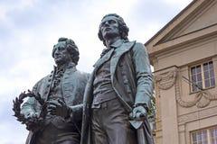 Goethe & Schiller Memorial in Weimar. Royalty Free Stock Images
