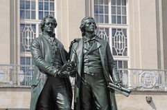 Goethe and Schiller monument Royalty Free Stock Photography
