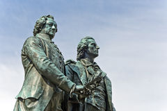 Goethe and Schiller Monument Royalty Free Stock Image