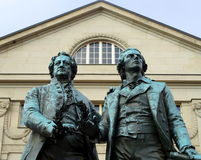 Goethe and Schiller Royalty Free Stock Photo