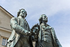 Goethe and Shiller Monument Royalty Free Stock Image