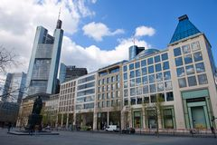 Goethe square in Frankfurt Stock Photography