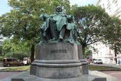 Goethe-Statue stockbild