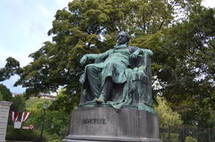 Goethe statue in Vienna Royalty Free Stock Photo
