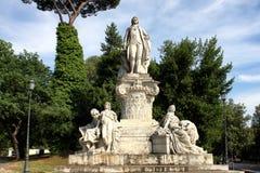 Goethe statue at Villa Borghese in Rome Stock Image