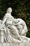 Goethe statue at Villa Borghese in Rome Royalty Free Stock Photos