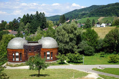 Goetheanum and houses Stock Image