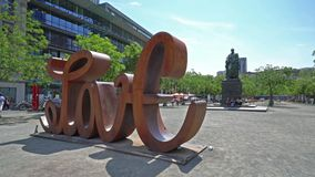 Goetheplatz在法兰克福 股票视频