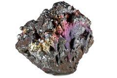 Goethite. Iridescent goethite from Tharsis/ Spain isolated on white background Royalty Free Stock Images