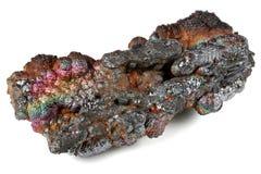 Goethite. Iridescent goethite from Tharsis/ Spain isolated on white background Royalty Free Stock Image