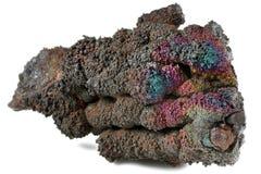 Goethite. Iridescent goethite from Tharsis/ Spain isolated on white background Stock Image