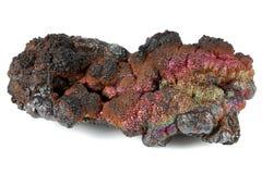 Goethite. Iridescent goethite from Tharsis/ Spain isolated on white background Royalty Free Stock Photos