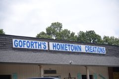 Goforth`s Hometown Creations Antiques Shop, Covington, TN. Goforth`s Hometown Creations antiques sells fine Antiques, home decor and collectibles, located in Royalty Free Stock Photos