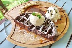 Gofr czekolada Zdjęcie Royalty Free