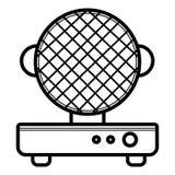 Gofra żelaza wektoru ikona ilustracji