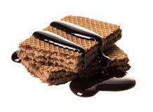 Gofra czekoladowy close-up Zdjęcia Royalty Free