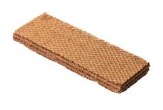 Gofra czekoladowy close-up Zdjęcia Stock