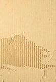 Gofruje kartonu papier zdjęcie stock
