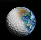 Goft ball , golf club,including elements furnished by NASA Royalty Free Stock Image