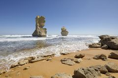 Gog e Magog, grande strada dell'oceano, Australia Fotografia Stock Libera da Diritti