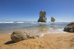 Gog e Magog, grande strada dell'oceano, Australia Fotografie Stock