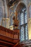 Gog Magog雕象在市政厅,伦敦的 免版税库存照片
