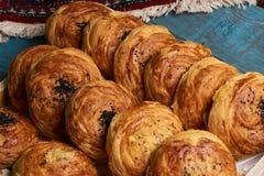 gogal阿塞拜疆传统的酥皮点心的特写镜头 库存图片