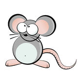 Goggle eyed mouse. Illustration of funny mouse with large eyes, isolated on white background Royalty Free Stock Photo